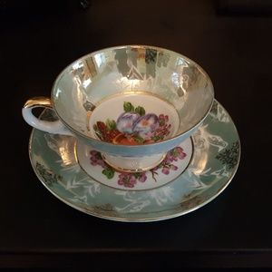 Vintage Fruit Tea Cup and Saucer
